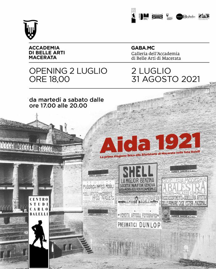 Aida 1921 - La prima stagione lirica allo Sferisterio di  Macerata nelle foto Balelli