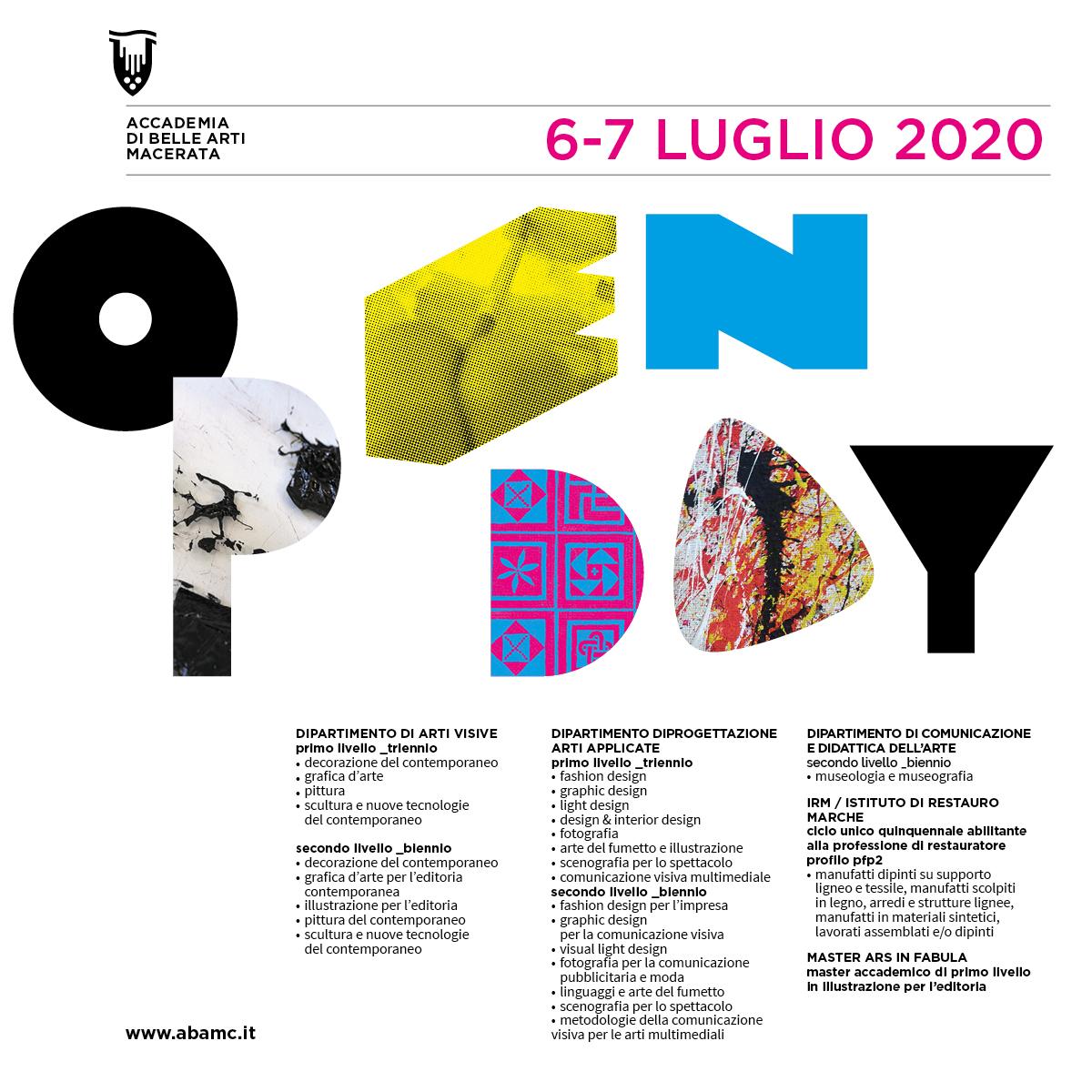 OPENDAY Luglio 2020
