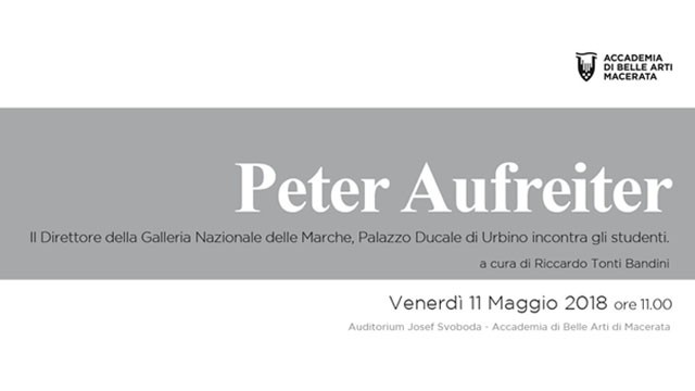 Peter Aufreiter incontra gli studenti